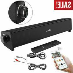 TV Sound Bar Home Theater Subwoofer Soundbar w/ Bluetooth Wi