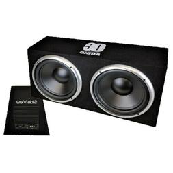 "Twin 12"" Car subwoofer with amp active amplified boom bass b"