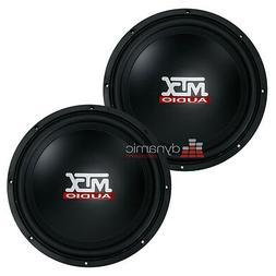 "Two  MTX Audio TN12-04 Car 12"" Terminator Series Single 4 oh"
