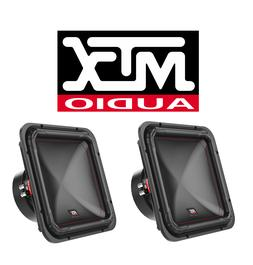 """TWO MTX S6512-44 DUAL 4 OHM 12"""" SQUARE SUBWOOFER 2000 WATTS"""