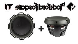 "Two Rockford Fosgate T1D4-12 12"" Power T1 4-Ohm DVC Subwoofe"