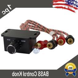 Universal Car Audio Amplifier Bass Boost RCA Level Remote Vo