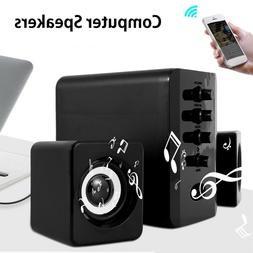 USB 2.1 Computer Speakers System Desktop PC Laptop Audio Pla