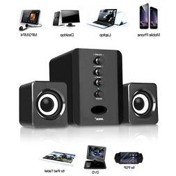 USB 2.1 Computer Speakers System Desktop PC Laptop Stereo Au