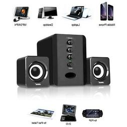 USB Wired Computer Speakers System Stereo Bass Subwoofer for