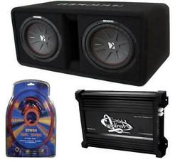 vented dual loaded enclosure subwoofers