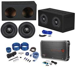 "Rockville W10K6D2 V2 10"" 4000w Subwoofers+Sealed Box+Mono A"