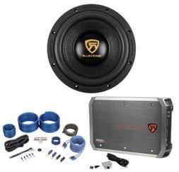 "Rockville W10K9D2 10"" 3200 Watt Car Audio Subwoofer+Mono Amp"