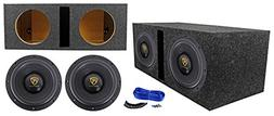 "Rockville W10K9D4 10"" 6400 Watt Car Subwoofers + Vented Sub"