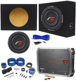 "Rockville W10T4-S4 10"" Shallow 1600W Subwoofer+Sealed Box+2"
