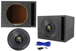 "Rockville W12K9D2 12"" 4000 Watt Car Audio Subwoofer + Vented"