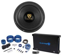 "Rockville W12K9D4 12"" 4000 Watt Car Audio Subwoofer+Mono Amp"