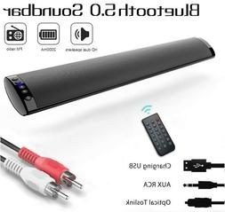 Bluetooth 5.0 Wireless Speaker TV PC Soundbar Subwoofer Home