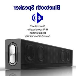 Wireless Bluetooth Speaker Stereo Subwoofer HIFI Soundbar Su