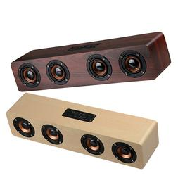 Wooden Wireless Bluetooth Speaker Super Bass Stereo Subwoofe