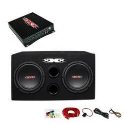 "XXX XBX-1200 12"" 1200W Car Subwoofers Subs/Amplifier/Amp Kit"