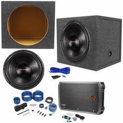 "American Bass XFL-1522 2000w 15"" Subwoofer+Sealed Sub Box+Mo"