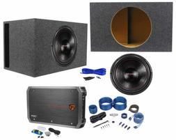 "American Bass XFL-1522 2000w 15"" Subwoofer+Vented Sub Box+Mo"