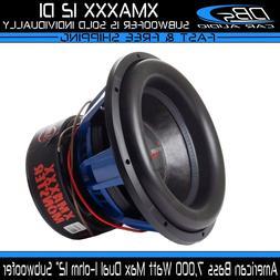 "American Bass XMAXXX 12"" Car Audio Subwoofer 7000W Max Dual"